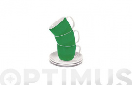 TAZA TE CON PLATO BAND GREEN