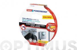 CINTA DOBLE CARA POWERBOND ULTRASTRONG 5MX19MM