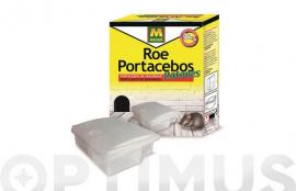 PORTACEBOS RATONES PLASTICO TRANSPARENTE