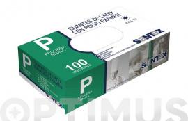 GUANTE LATEX CON POLVO T.P (100UN)