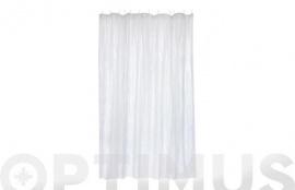 CORTINA DE BAÑO PVC CRISTAL 1,8X2M