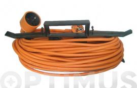 PROLONGADOR ELECTRICO JARDIN 15 M. / 3 X 1,5  IP20 C/ PROTECCION INFANTIL (INCLUYE ORGANIZADOR)