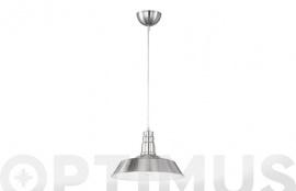 LAMPARA COLGANTE 1XE27 MAX. 60W WILL NIQUEL MATE