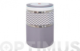 TERMO SOLIDOS LUNCHBOX DOBLE  0,9 L GRIS INOX