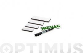IMAN FLEXIBLE 1 CARA PVC BLANCO BLISTER 6 UNID 40X100 MM