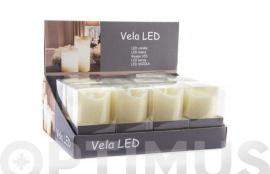 VELA LED PVC  7,5X10 CM