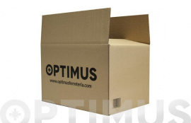 CAJA CARTON EMBALAR MARRON OPTIMUS 60 X 40 X 40 CM