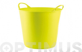 CUBO FLEXIBLE MULTIUSOS 26 LT  PISTACHO