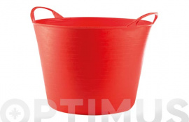 CUBO FLEXIBLE MULTIUSOS 26 LT  ROJO