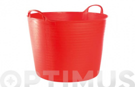 CUBO FLEXIBLE MULTIUSOS 42 LT  ROJO