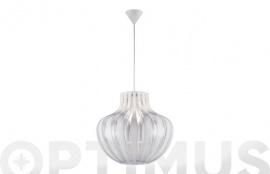LAMPARA COLGANTE PUMPKIN 1XE27 Ø45X150CM BLCO