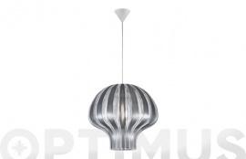 LAMPARA COLGANTE PUMPKIN 1XE27 Ø45X150CM FUME