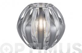 LAMPARA SOBREMESA PUMPKIN 1XE27 Ø23X22CM FUME