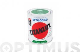 TITANLUX ESMALTE ECOLOGICO AL AGUA BRILLANTE 750 ML NEGRO