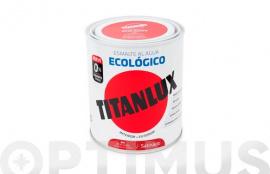TITANLUX ESMALTE ECOLOGICO AL AGUA SATINADO 750 ML ROJO CARRUAJE
