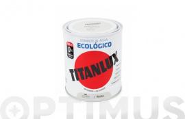TITANLUX ESMALTE ECOLOGICO AL AGUA MATE 750 ML NEGRO