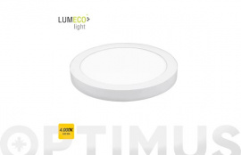 DOWNLIGHT LED DE SUPERFICIE Ø22,5X4 CM 1500LM BLANCO 20W 4000K