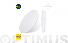 APLIQUE DE SUPERFICIE LED Ø38X6,6CM 1200LM BLANCO 24W 4000K