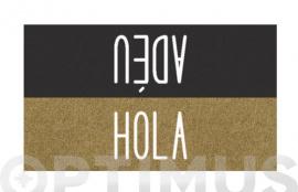 FELPUDO COCO ESTAMPADO 40X70  HOLA / ADEU