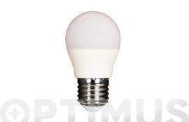 LAMPARA LED ESFERICA 480LM (5UNIDADES) E27 6W FRIA
