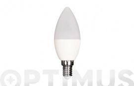 LAMPARA LED VELA 480LM (4UNIDADES) E14 6W FRIA