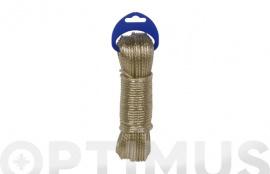 CABLE ACERO PLASTIFICADO 3,5MM 20 MT ORO
