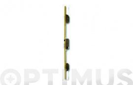 CERRADURA SEGURIDAD EMBUTIR 3 PUNTOS 2000B-3/50-DS15/60 LARGO 30 MM CROMO MATE