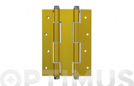 BISAGRA DOBLE ACCION MOD.3035 180X133 MM ALUMINIO ORO