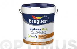 PINTURA PLASTICA EXTERIOR DIPLOMA BLANCO MATE 15 L