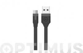 CABLE CARGADOR USB-TIPO C  3A 1M NEGRO