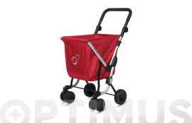 CARRO COMPRA 4 RUEDAS GIR WE GO BASIC ROJO