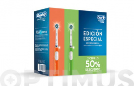 CEPILLO DENTAL ORAL-B CROSS ACTION PRO600 (PACK 2U) VERDE/NARANJA
