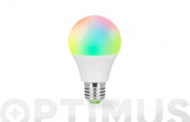 LAMPARA LED RGB COMPTAIBLE ASISTENTE VOZ E-27 5W SMART HOME