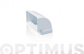 CODO RECTANGULAR VERTICAL 90º TUBO EXTRACCION PVC 150 X 75 MM