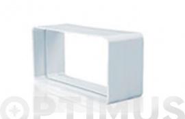 EMPALME RECTANGULAR TUBO EXTRACCION PVC 150 X 75 MM