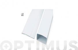 TUBO EXTRACCION PLEGABLE PVC RECTANGULAR 1M - 110X55MM