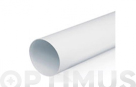 TUBO EXTRACCION PVC REDONDO 1M - Ø100