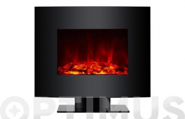 CHIMENEA ELECTRICA CON PIE FRONTAL CURVO 2000 W