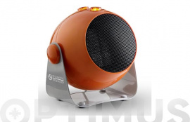 TERMOVENTILADOR CERAMICO DESIGN 1800W INCLINABLE COLOR NARANJA