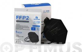 MASCARILLA PROTECCION FFP2 NEGRA NO REUTILIZABLE