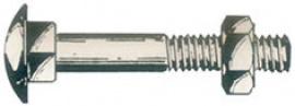 TORNILLO DIN 603 ZIN 4,6 C/TCA  8X120