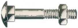 TORNILLO DIN 603 ZIN 4,6 C/TCA 10X 40