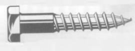 TORNILLO ROSCA LIMA C/EXAG.D571 ZINCAT 7X 80 (200U)