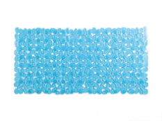 ALFOMBRA BAÑO AZUL PVC VENTOSA 36X70 CM