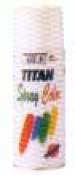 SPRAY TITAN ESMALTE SINT.200ML NEGR.MAT