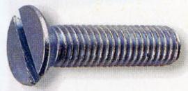 TORNILLO DIN 963 CABEZA PLANA ZINCADO M-4 X 10 MM