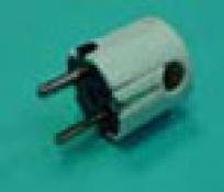 CLAVIJA BIPOLAR 10/16A 250V LATERAL C/TT-BLANCA RUBILEC
