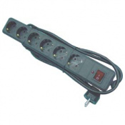 BASE MULTIP 6T+1,5m CABLE+INT 90005-NEGRO