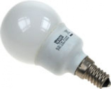 LAMPARA AHORRO MINI ESFERA  7W E-14 840