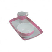 BANDEJA PORCELANA DECORADA 31X MINI TOPOS R